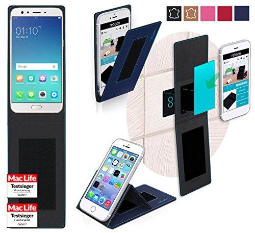 reboon Oppo F3 Plus Hülle Tasche Cover Case Bumper   Blau   Testsieger