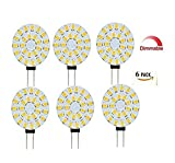 Best to Buy® 6er Set G4 LED 4Watt 12V-24V AC/DC 24x5630SMD warmweiß dimmbar 120° rund A++