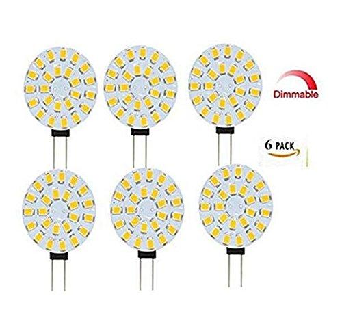 Best to Buy® G4 Lot de 6 LED 4 W 12 V-18 V AC/DC 24 x 5630SMD Blanc, 5000 K, intensité variable 120 ° rond a + +