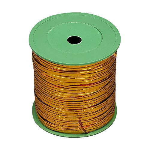 XFentech Kabelbinder - 360 Meter Metallic Twist Bindungen für Candy Brot Geschenk, Gold, 360m -