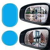 4pcs Pellicole auto moto anti-brouillard Specchietto Retrovisore Esterno, jolvvn DIY Specchietto Retrovisore Pellicola antiéblouissant Specchio Impermeabile Nano Proteggi Schermo Antiriflesso e antigraffio trasparente Specchietto Retrovisore per auto moto camion furgone 2pcs * 8cm rotondo + 2pcs * 10cm ovale Exterior Mirrors
