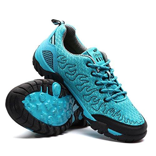 Herren Sportschuhe Mode Atmungsaktiv Rutschfest Ausbildung Laufschuhe Light Blue