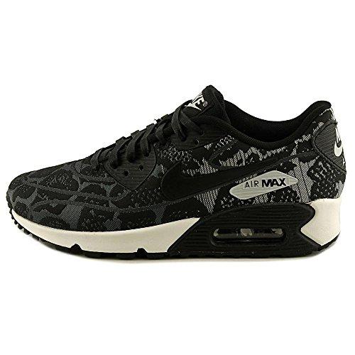 Nike Air Max 90 Jacquard Femme Baskets en gris foncé, Noir Et Blanc 749326 001 Dark Grey/Black-Pure Platinum