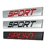 YONGYAO Auto Adesivo Parafango Posteriore Emblema Distintivo Metallo Sport Per Jetta Golf Polo-Rosso Nero