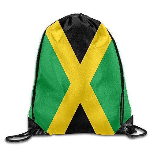 Pads bag Turnbeutel mit Kordelzug, Flagge von Jamaika, Unisex, Kordelzug, einfaches Zeichnen, schnell trocknend -