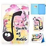 YKTO Tablet Hülle iPad Mini 1 2 3 4 Universal 7.9 Zoll MagnetischKlappetui Brieftasche mit Ständer Schön Case Anime Colorful Painted Schutz Anti-Kratzer Stoßfest Schützend Schale Musik