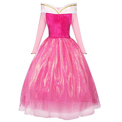 Imagen de katara 1742 disfraz para niña inspirado en aurora de disney rosa rosa 128/134 etikett 140  alternativa