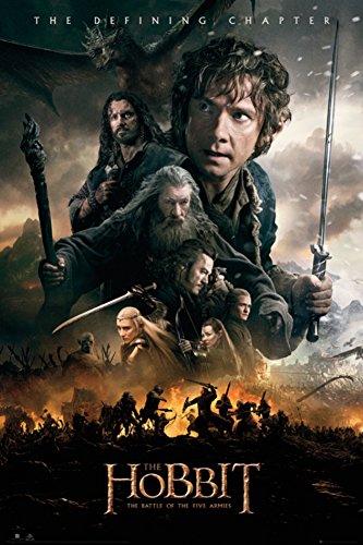 """The Hobbit - Poster """"La battaglia delle cinque armate"""" (61 cm x 91,5 cm), misura Grande"""