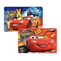 Theonoi 2 x Placemats Dining Mat Colouring Mat Place Mats Table Mat - Choice of Cars Paw Mickey Blaze - Plastic 42 x 28 cm cars