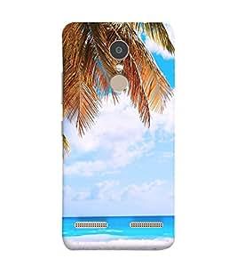 White Sand Beach 3D Hard Polycarbonate Designer Back Case Cover for Lenovo K6