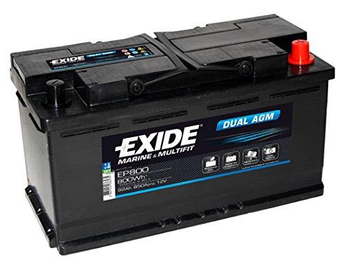 Exide EP800Dual AGM Leisure marine batteria 95Ah