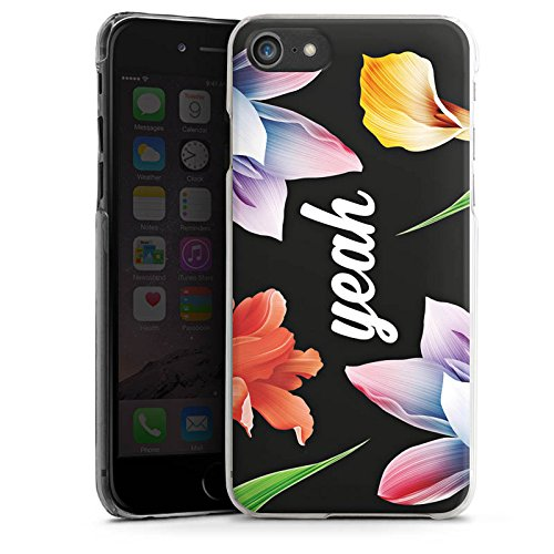 Apple iPhone X Silikon Hülle Case Schutzhülle Blumen Yeah Hipster Hard Case transparent