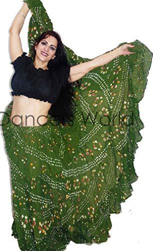 Polka Dot 25 Yard Yards Tribal Gypsy Baumwolle Bauch Tanzen Tanz Rock - Zigeuner Stammes Bauchtanz Kostüm