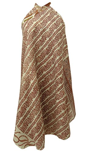 Blumendruck Vintage Saree Rock Beige Reine Seide Wrap-Around-Kleid Magisches Hippiekleid (Vintage Wrap-around-rock)