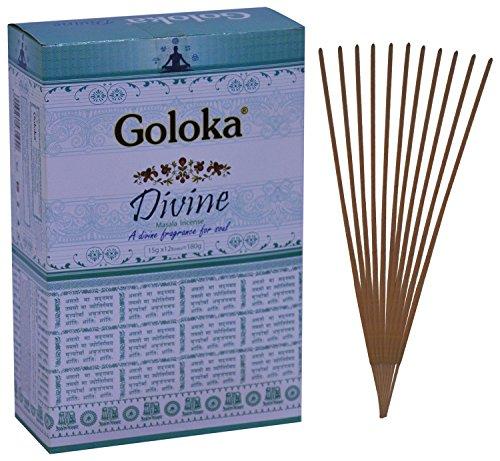 Goloka Divine Incense Sticks Pack of 12 (15 grams each pack)