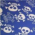 Premier Dog Blue Skull & Crossbone Dog Bandana / Scarf