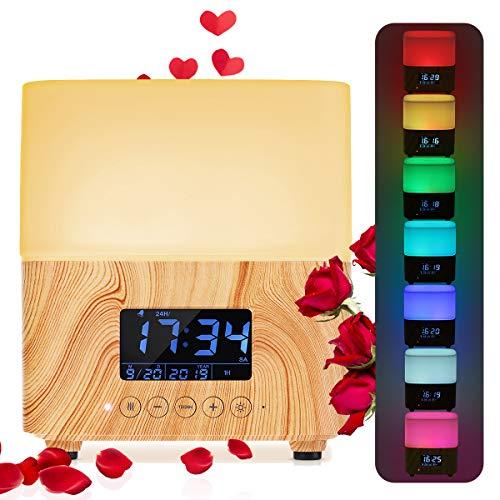 Humidificador de Aceites Esenciales 300ml, Y.F.M. Difusor de Aromaterapia - 7 Color Luz,...