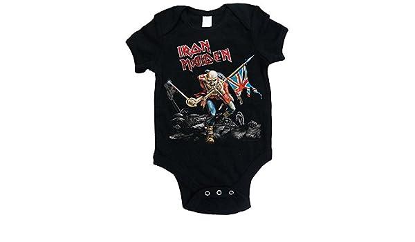 0-24 Monate Iron maiden Baby Jungen Unterhemd schwarz schwarz