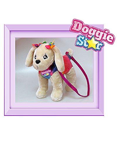 DOGGIE STAR® Borsa a forma di cane razza Caniche gigante fucsia con il tutù Beige - Abitino Arcobaleno