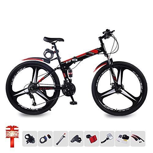 KVIONE E9 Mountain Bike 27 Unisex speeds 29 Inches Mountain Bike High Carbon Steel Mountain Bike with Disc Brake