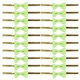 Kingstons Schleife Geschenk Verpackung Twist Kabelbinder für Party Bakery Cookie Candy Staubbeutel (grün)