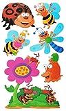 Unbekannt 7 tlg. Set: XL Wandtattoo / Sticker - Schmetterling + Marienkäfer + Bienen - Wandsticker Aufkleber - für Kinder - Raupe Schmetterlinge Auch als Fensterbild / Mädchen Jungen Kinderzimmer