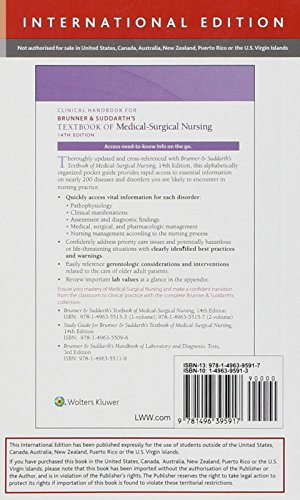 Zoom IMG-1 clinical handbook for brunner suddarth