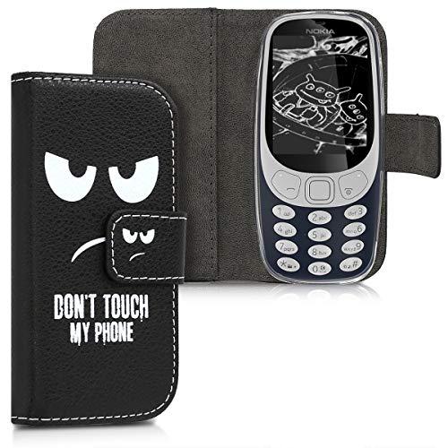 kwmobile Nokia 3310 3G 2017 / 4G 2018 Hülle - Kunstleder Wallet Case für Nokia 3310 3G 2017 / 4G 2018 mit Kartenfächern & Stand