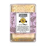 Lavendel-Honigwabe | Honig von Hompass | Imker-Bienenhonig-Honig für gesundes Leben| Honigwabe| Wabenstück (200 Gramm)