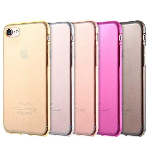 Silikon Tasche für Apple iPhone 8 4.7 Zoll dünne transparente TPU Handyhülle Grau