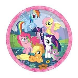 Party Bags 2 Go - Piatti con disegni di pony, ideali per feste, 8 pezzi