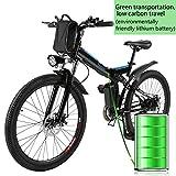 Beautytalk Elektrofahrrad E-Mountainbike Klapprad Alu City E-Bike 26 Zoll Cityräder Farrad 36V 8AH Lithium-Ionen-Akku Mountainbike(DE Lager) … (Schwarz)