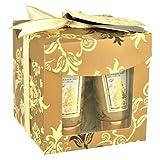 Gloss Gold Badeset Geschenkset white Floral und Musk 3 teiliges, 1er Pack (1 x 140 g) Geschenk-Box - Bade-Geschenk