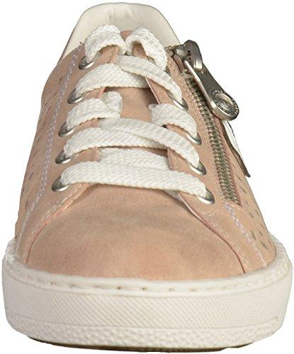 Rieker M7916, Sneakers Basses Femme Multicolore (Altrosa/argento/weiss / 31)