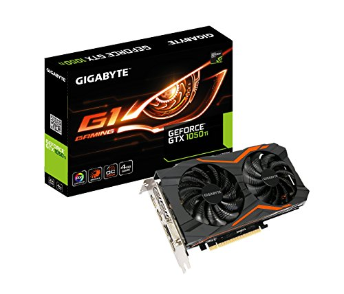 Price comparison product image Gigabyte Geforce GTX 1050 Ti 4GB G1 GAMING Graphic Card (GV-N105TG1GAMING-4GD)