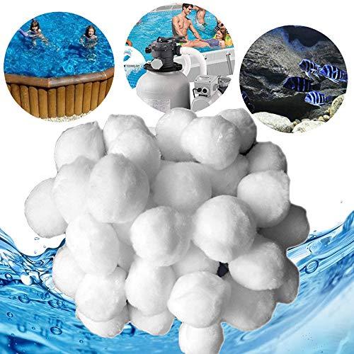 wolketon Filter Balls 700g Filterbälle Filtermaterial ersetzen 25 kg Filtersand für Pool Sandfilter