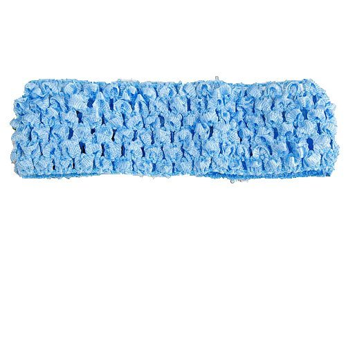 Generic 1.5 Inch Elastic Baby Toddler Girls Crochet Headband - Blue  available at amazon for Rs.120