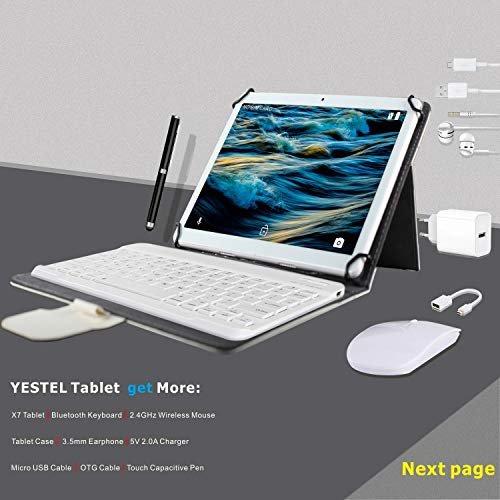 YESTEL Tablette Tactile 10 Pouce...
