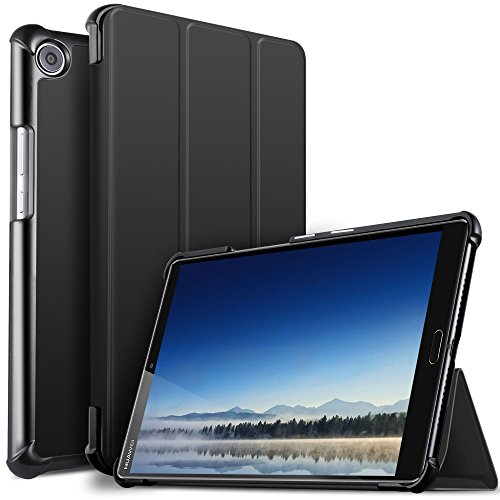IVSO Huawei MediaPad M5 8.4 Hülle, Ultra Schlank Ständer Slim zubehör Schutzhülle perfekt geeignet für Huawei MediaPad M5 8.4 Zoll 2018 Modell Tablet PC, Schwarz