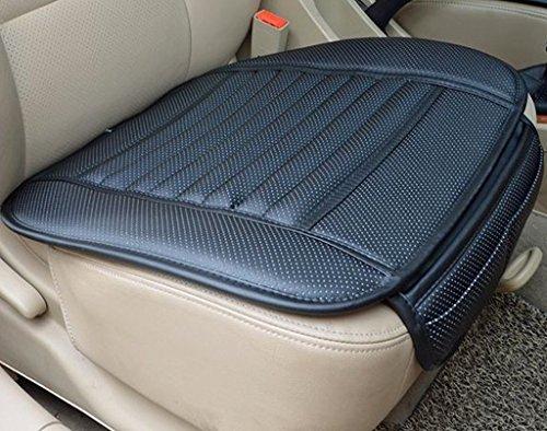 Schwarz Auto Sitzauflage Sitzkissen Sitzmatte PU Leder Bambus Kohle