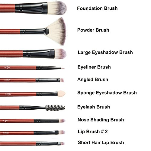 Makeup Brush Set, Anjou 24pcs Eyeshadow Eyeliner Foundation Blending Brushes for Eyes, Face & Lip with Super Soft Bristles for all Consistencies (Powder, Creams & Liquids)