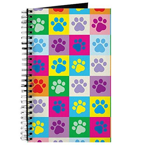 CafePress–Hund Pfoten Muster Patchwork–Spiralbindung Journal Notizbuch, persönliches Tagebuch, liniert (Lb Hunde 60)