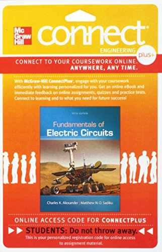 Connect 1-Semester Access Card for Fundamentals of Electric Circuits Card Circuit Card