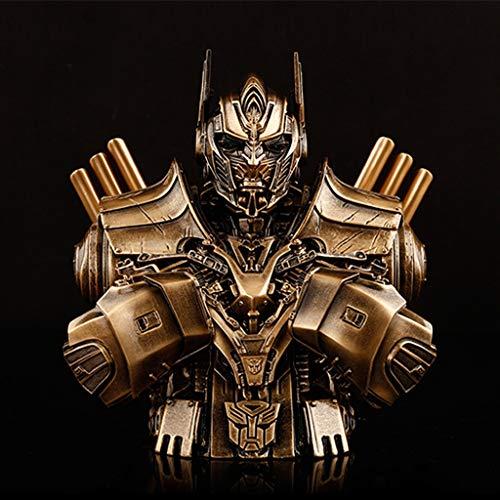 Yxsd Transformatoren 5 Autobots Optimus Prime Büste Model-GK Statue Model - Imitation Copper Toy Geschenk (Transformatoren Sind Superhelden)