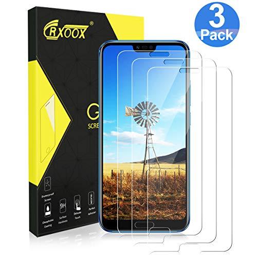 [3 Stück] Panzerglas Schutzfolie für Huawei Honor 10, [Anti-Kratzer/Ultra Resistent] [Einfach zu installieren] [Blasenfrei] [3D Touch/9H Härte] - für Huawei Honor 10 - Transparent