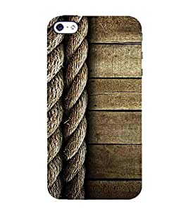 For Apple iPhone 5S rope pattern ( nice pattern,rope,wooden pattern,wood,rope pattern ) Printed Designer Back Case Cover By Awwsme