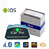 Vgate iCar Pro Bluetooth 4.0 (BLE) OBD2 Fehlercode Leser OBDII Code Scanner Auto Check Engine Licht für iOS iPhone iPad / Android mit ELM327 Adapter