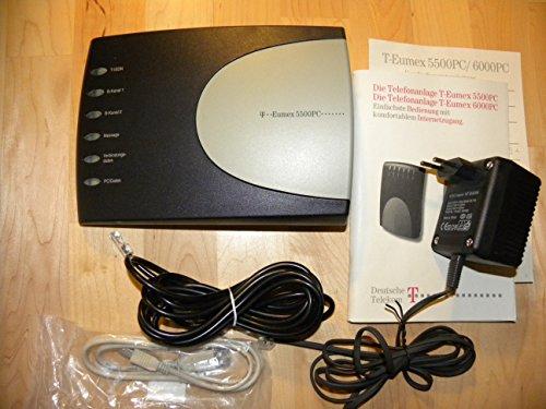 Telekom T-Eumex 5500 PC ISDN-Telefonanlage schwarz/silber