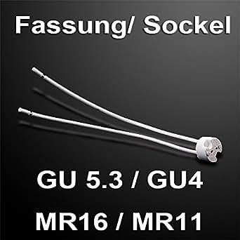 10 Stück MR16 GU5.3 MR11 GU4 Fassung 12V mit Kabel