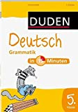 DUDEN - Deutsch Grammatik in 15 Minuten (5. Klasse)